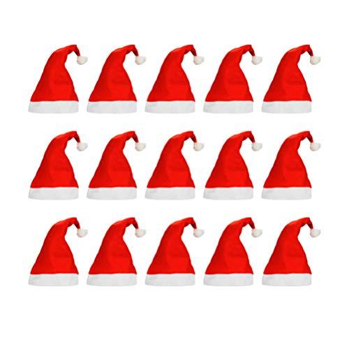 Amosfun - Gorro de Papá Noel con Gorro de Tela para Disfraz de Papá Noel para Adultos y niños en casa