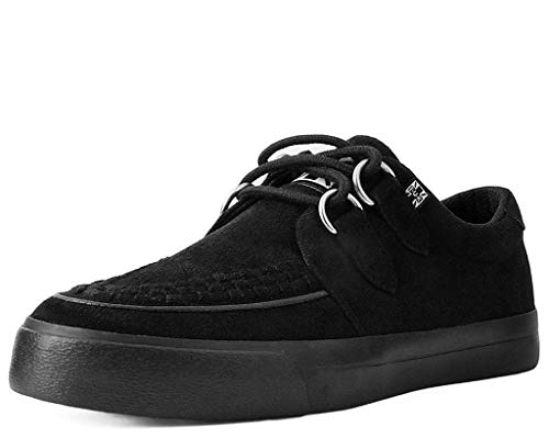 T.U.K. Shoes Herrenfrauen Schwarz Faux Suede D-Ring VLK Creeper Sneaker EU41 / UKW8 UKM7