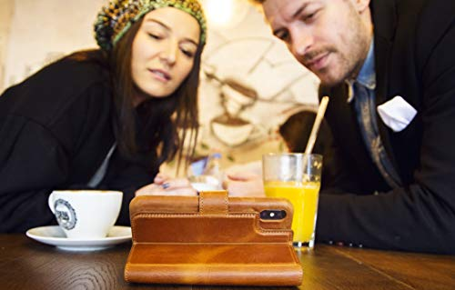 Solo Pelle Iphone X abnehmbare Lederhülle (2in1) inkl. Kartenfächer für das original Iphone X in Camouflage Grau - 6