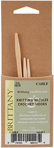Brittany Cable Needles,Natural,1 Pack