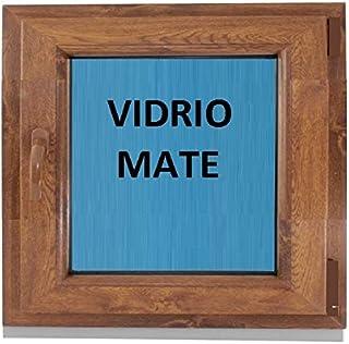 (V17M) Ventana Pvc color Madera 600x600 Pract. Osc. Roble Dorado (DERECHA)
