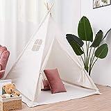 LUVODI - Tenda da gioco per bambini, stile indiano, per bambini, linea Wigwam Playhouse, portatile, per interni ed esterni, con finestra e tappetino
