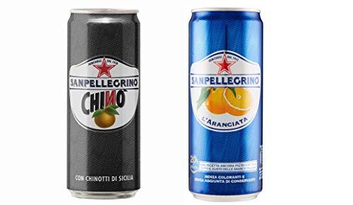Testpaket San pellegrino 48 x Dose 330 ml Bitterorange Limonade Orangenlimonade