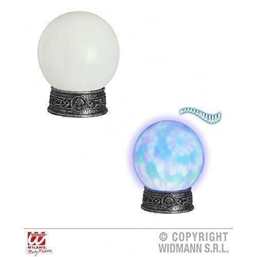 Lively Moments Kristallkugel / Wahrsagerkugel auf Sockel mit Licht und Sound / Halloween Dekoration / Halloweendeko / Hexenkostümzubehör