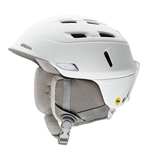Smith Optics Compass MIPS Adult Ski Snowmobile Helmet (Pearl White, Small 51-55CM)