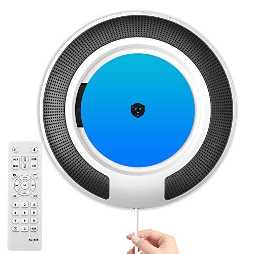 Lettore CD, CD Player Bluetooth con Radio CD Altoparlanti HiFi Integrato e Display OLED, Lettore CD Esterno per PC Portatile Montabile a Parete / da Scrivania Riproduttore
