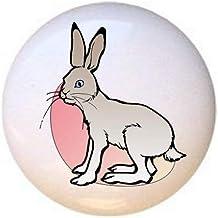 Rabbit from Animals by GE Series Decorative Ceramic Dresser Drawer Pulls Cabinet Cupboard Knobs