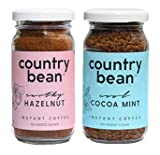 Country Bean Instant Coffee Powder with Hazelnut and Cocoa Mint Flavours, 60g