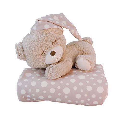 Bieco Baby Kuscheldecke Bärchen Peti / 2er Set, Schmusedecke & Plüschtier / Flauschige Decke / Kuscheldecke Baby / Kinder Kuscheldecke / Dünne Decke Flauschig / Baby Blanket / Kuscheldecke Kinder