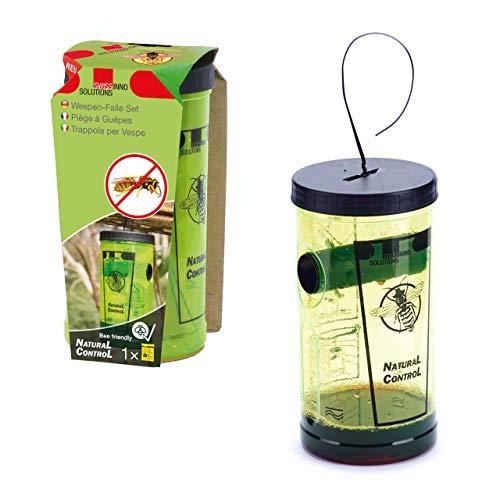 SWISSINNO Wespenfalle 1 343 001W NaturalControl Wespenfangset, inklusive Naturköder, giftig, 1 Stück Pestizide abwehren, gelb