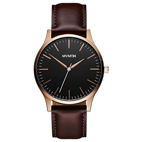 MVMT Herren Analog Quarz Uhr mit Leder Armband D-MT01-BLBR