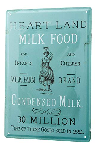 Not Applicable Tin Sign Metal Tin Sign Decor Iron Painting Metal Plate Decorative Sign Home Decor Plaques 12x16inch Nostalgic Motif Breast Milk Farm