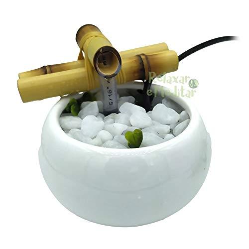 Fonte de Água Redonda em Cerâmica (Branca)