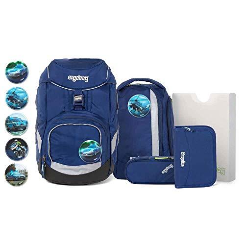 Ergobag Pack Schulranzen-Set 6tlg BlaulichtBär mit Wunschkletties (Polizei)