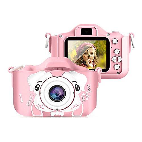 XinQing-niños cámara Cámara de los niños, 2000W de Doble cámara Digital, con Pantalla de 2,0 Pulgadas IPS, Tarjeta SD de 32 GB, Regalos for niños y niñas de 3-12 años de Edad (Color : Pink)