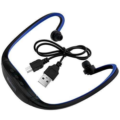 Auriculares deportivos estéreo inalámbricos Bluetooth con ranura para tarjeta SD para conducir, ciclismo, correr