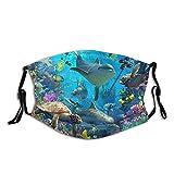 Mascarilla de delfín Máscara de animales Máscara de océano para acuario y delfín Regalo transpirable lavable con filtros