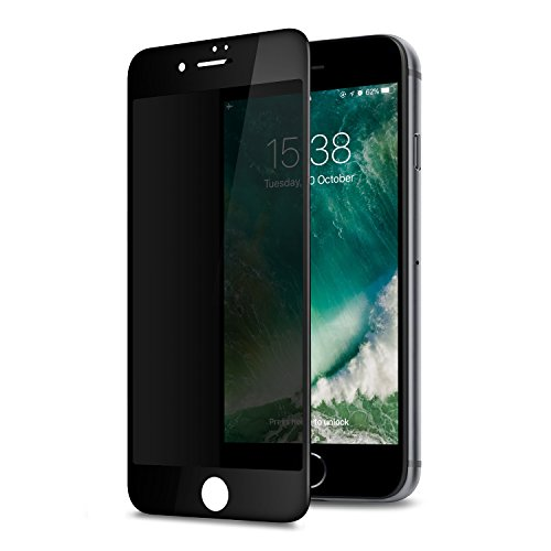GLASS-M Privacy Screen Protector for iPhone 6s iPhone 6, Edge to Edge Full Cover Tempered Glass Screen Protector Film, 9H Hardness Case Friendly Protection Shield - Black
