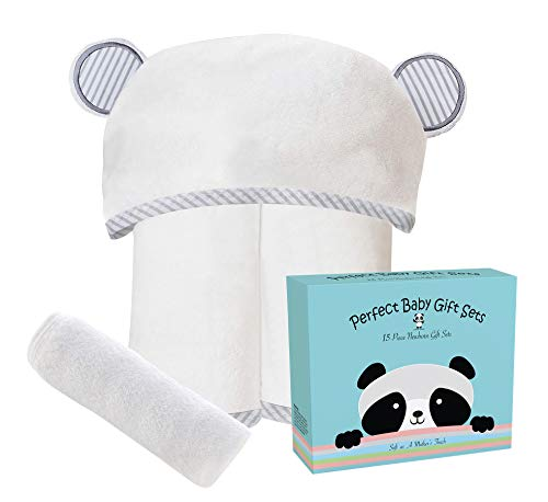Premium Ultra Soft Bamboo Baby Hooded Towel and...