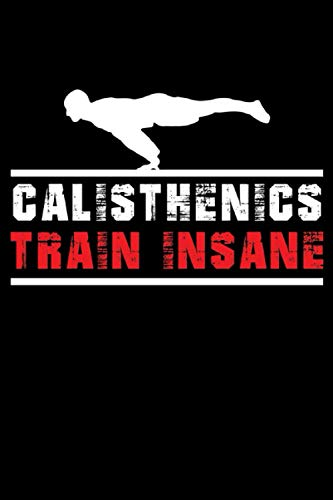 Calisthenics Train Insane Notebook: Calisthenics & Freeletics Notebook for Sport - Workout notebook - 120 lined pages for appointments, notes, ... DINA5 - gift for sportswoman & ladies.