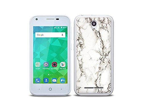 etuo Handyhülle für ZTE Blade L110 - Hülle Fantastic Hülle - Weißer Marmor - Handyhülle Schutzhülle Etui Hülle Cover Tasche für Handy