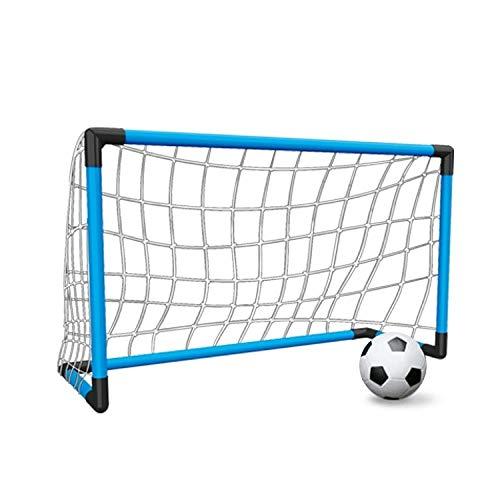 Poste de portería de fútbol for los niños, Fútbol Gol, Poste de portería de fútbol for los niños de interior, portátil Puerta de fútbol interiores y exteriores for niños, 70 X 50x33cm WEEXIZHIGUANGLIY