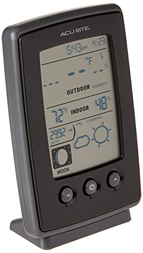 AcuRite 00829 Digital Weather Station with Forecast/Temperature/Clock/Moon Phase