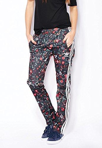adidas Firebird TP - Pantalón para Mujer, Color Negro Gris Blanco, Talla 40