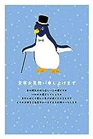 《私製 5枚》余寒見舞いはがき(pka-010 魔法ペンギン)《切手なし/裏面印刷済み/ポストカード》
