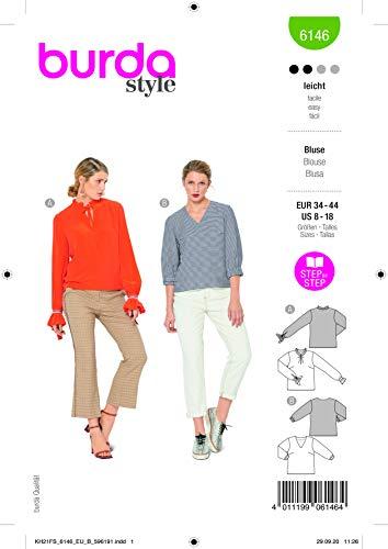 Burda 6146 Schnittmuster Bluse (Damen, Gr. 34-44) Level 2 leicht