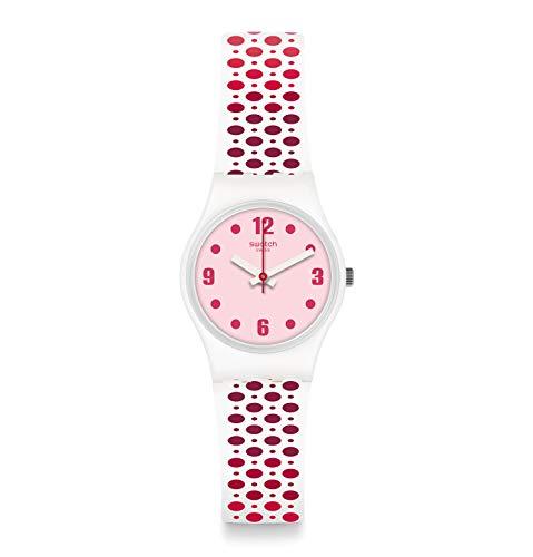 Swatch Reloj Analógico para Mujer de Cuarzo con Correa en Silicona LW163