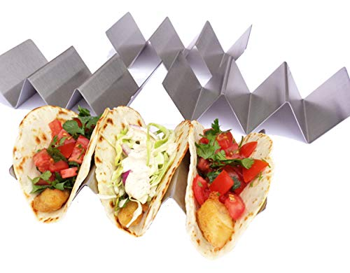 Taco Holder - Taco Holders, Stainless Steel with a Free Recipe Booklet