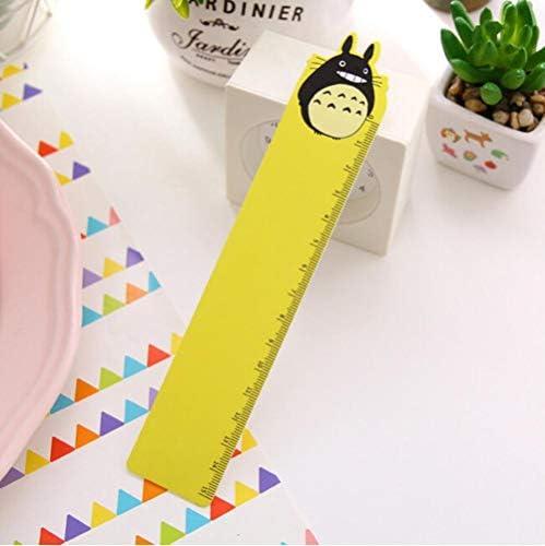stile semplice per disegnare Kawaii 18cm yellow Righello in plastica trasparente per bambini per la scuola