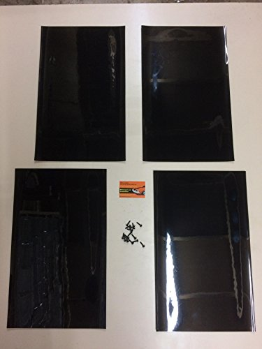 Faldillas para guardabarros de rally, faldillas de guardabarros de PVC, de 500 x 300 mm, 3 mm, color negro, de Motorsportandaccessories.