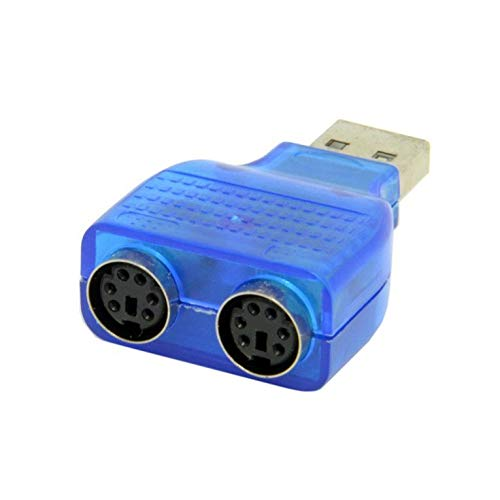 #N/V 1 x USB-Stecker auf Dual-PS2-Buchse, Adapter für Tastatur, Maus, Konverter, Maus-Adapter, Plug & Play