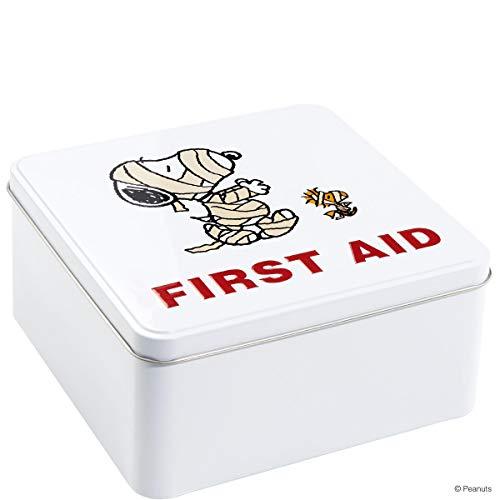 Butlers Peanuts Dose First Aid Kit Mumie 17,6x17,6x8,5 - Erste-Hilfe-Kasten - Hausapotheke, Erste-Hilfe-Box, Blechbox