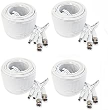 (4) 60 Foot Security Camera Cable for Samsung SDH-C75100, SDH-C75080 Systems