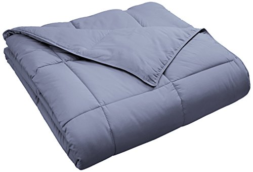 Superior Classic All-Season Down Alternative Comforter with Baffle Box Construction, King, Silver