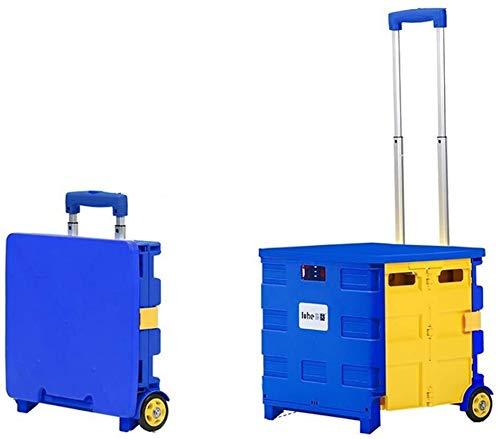 Carrito plegable de la tienda de comestibles, súper cargando escalador de escalador Carrera de la capacidad de la capacidad de la capacidad de la capacidad de la postura de la lavandería Carrito de la