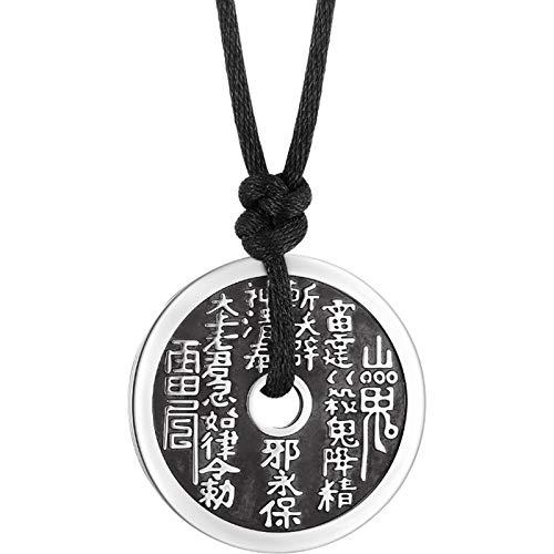 Daesar Colgantes Plata de Ley Moneda China Colgante Vintage Collar Plata Collar
