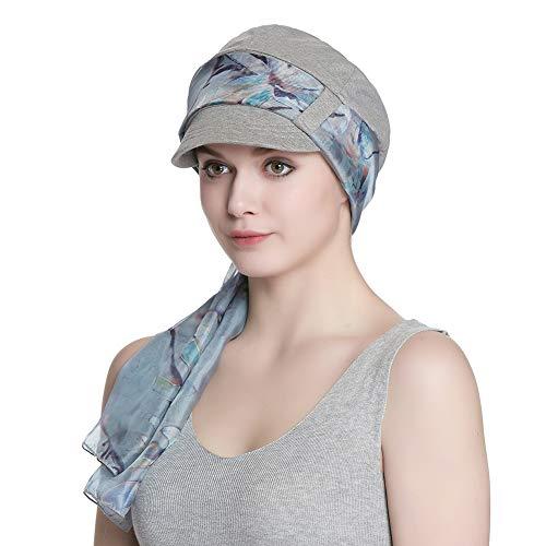 Alnorm Conjunto de Bufanda y Sombrero de Vendedor de periódicos de Fibra de bambú Transpirable para Mujer