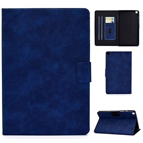 HH-Tablet Case,For Samsung Galaxy Tab A 8.0 (2019) T290/T295 Cowhide Texture Horizontal Flip Leather Case with Holder & Card Slots hangma (Color : Blue)