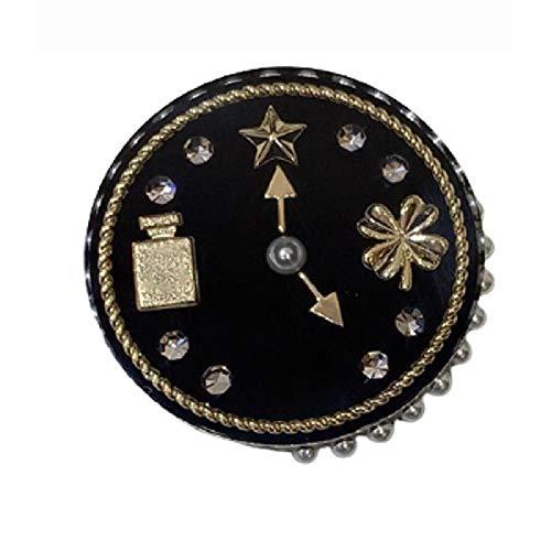 wangk Marca joyería de Moda para Las Mujeres Relojes broches Relojes Partido suéter Brooche Nombre Vintage Relojes broches