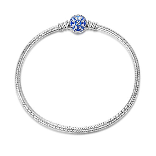 NINAQUEEN Bracelets for Womens fit Pandora Bracelet 19 CM Blue Snake Women's jewellery best gifts with Jewellery Box 925 Sterling Silver Antibacterial Properties