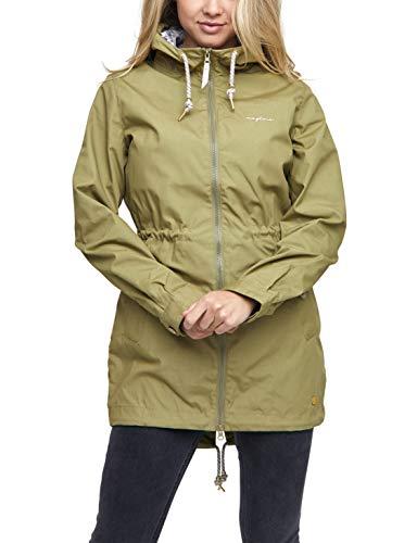 mazine - Damen - Parka 'Library Light' - Classic Streetwear Sommer Frühling - Light Olive - L
