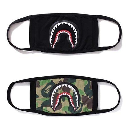 Xshelley 2-pack Shark Face Mask,cotton mask funny Anti-dust Face mask,Ski Cycling Camping Half Face Mouth Masks for Boys and Girls