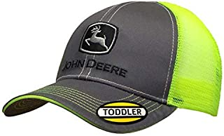 John Deere Toddler/Kids Mesh Back Cap (Grey/Neon Green)