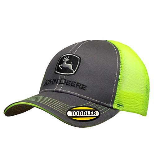 John Deere Toddler Kids Neon Mesh Back Cap-Charcoal-Os