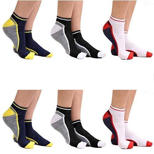 Get The Trend Sneaker Socken für Männer, Herren Sneaker Socken für Sport, Fitnessstudio, Laufen Verwendung, Niedrige Socken, Atmungsaktiv Qualität UK Size 6-11, Vpe 6 Paar