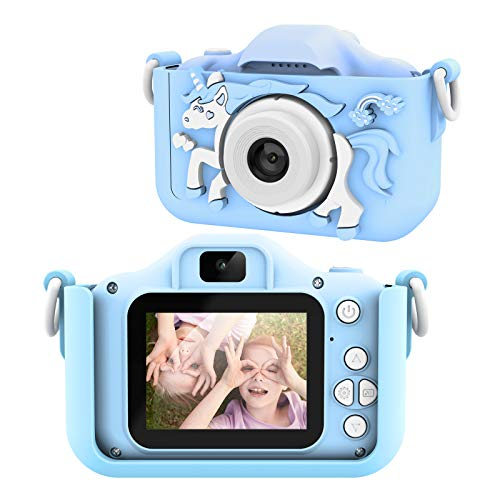 AOKEY Kinder Kamera Digital Fotokamera Selfie Geburtstagsgeschenk fur Kinder HD FarbbildschirmAutofokusVideoaufzeichnung 32 GB TF Karte1080P HD